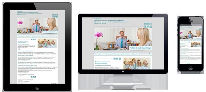 Praxisklinik Referenz Webseite